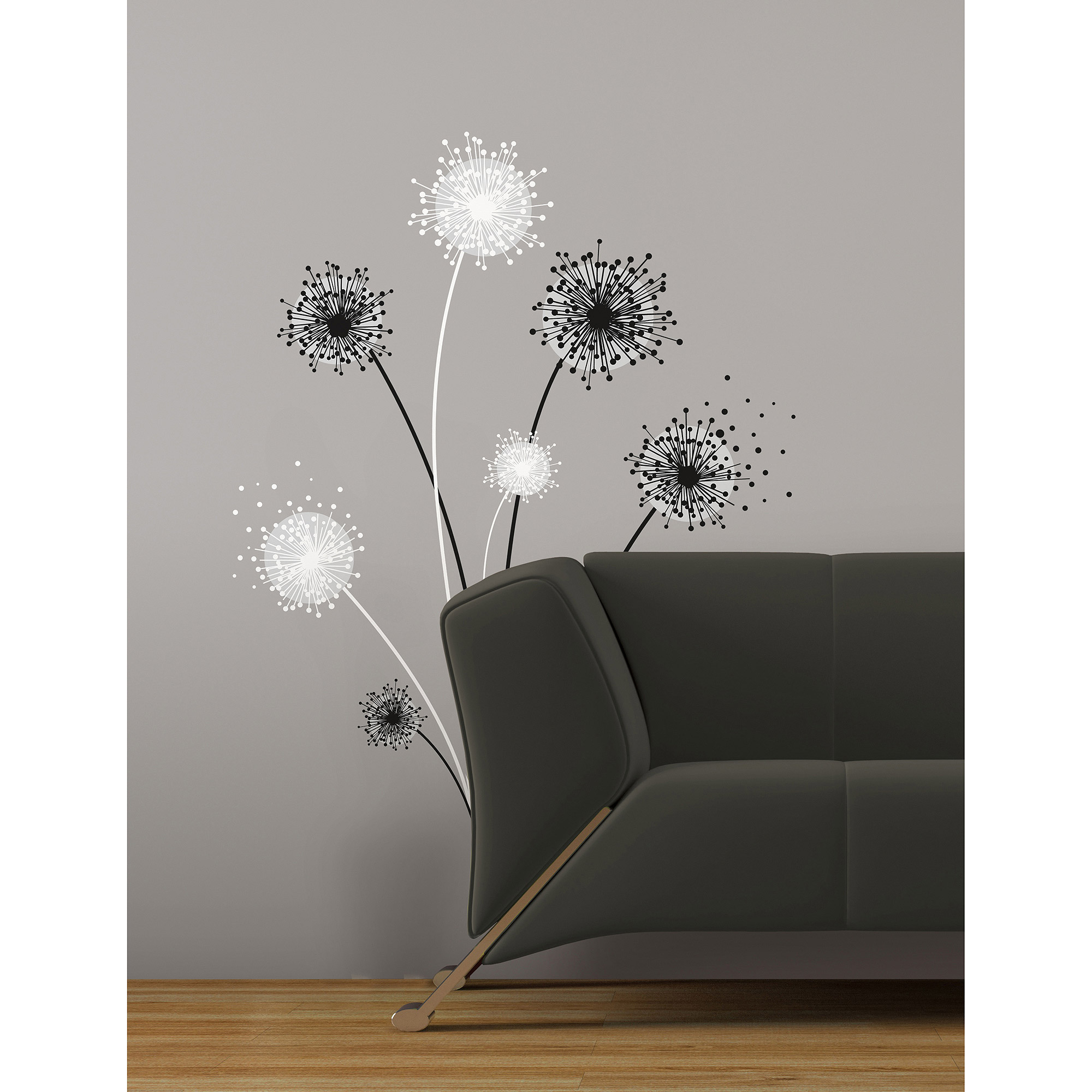 RoomMates Graphic Dandelion Peel U0026 Stick Giant Wall Decal   Walmart.com