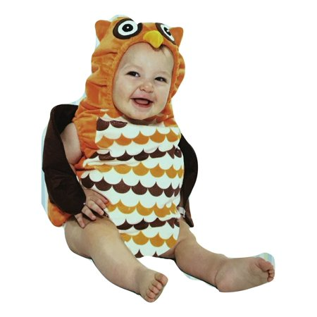 Boo Babies Halloween Costume What a Hoot Owl Sz 0-9 Months 2 Pieces Brown Orange - Owl Baby Halloween Costume
