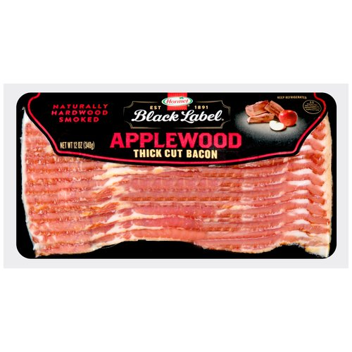 Hormel Black Label Applewood Smoked Thick Cut Bacon, 12 oz
