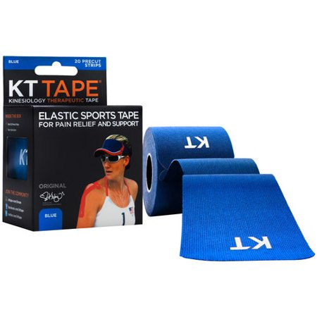 Kt Tape Original Kinesiology Therapeutic Precut Tape Strips  Blue  20 Ct