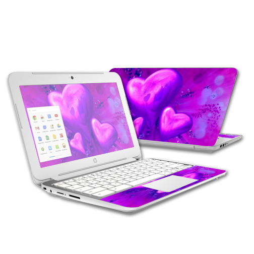 MightySkins Protective Vinyl Skin Decal for HP Chromebook 11 (2015) case wrap cover sticker skins Purple Heart