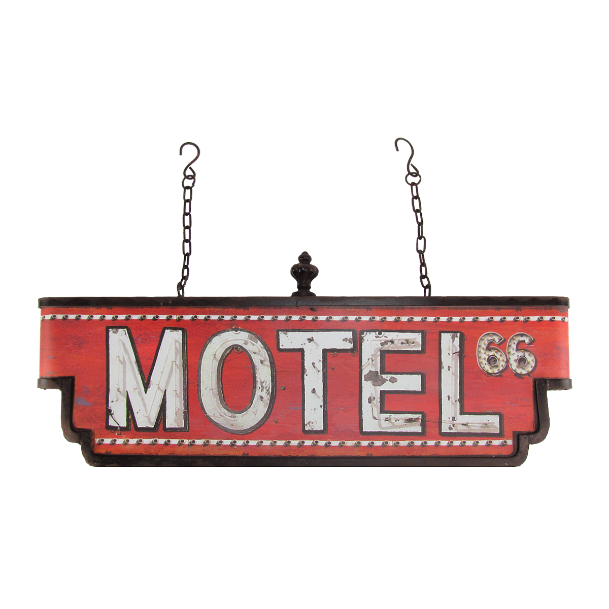 Large 3D Metal Hanging Motel Route 66 Sign Vintage Retro Home/Bar/Pub Wall Decor