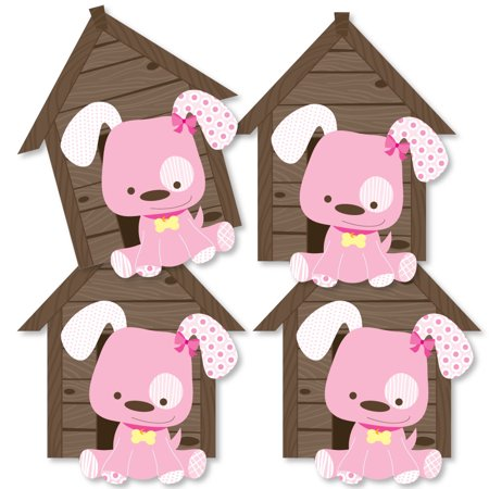 Girl Puppy Dog - Dog House Decorations DIY Baby Shower or Birthday Party Essentials - Set of 20 - Puppy Birthday Decorations