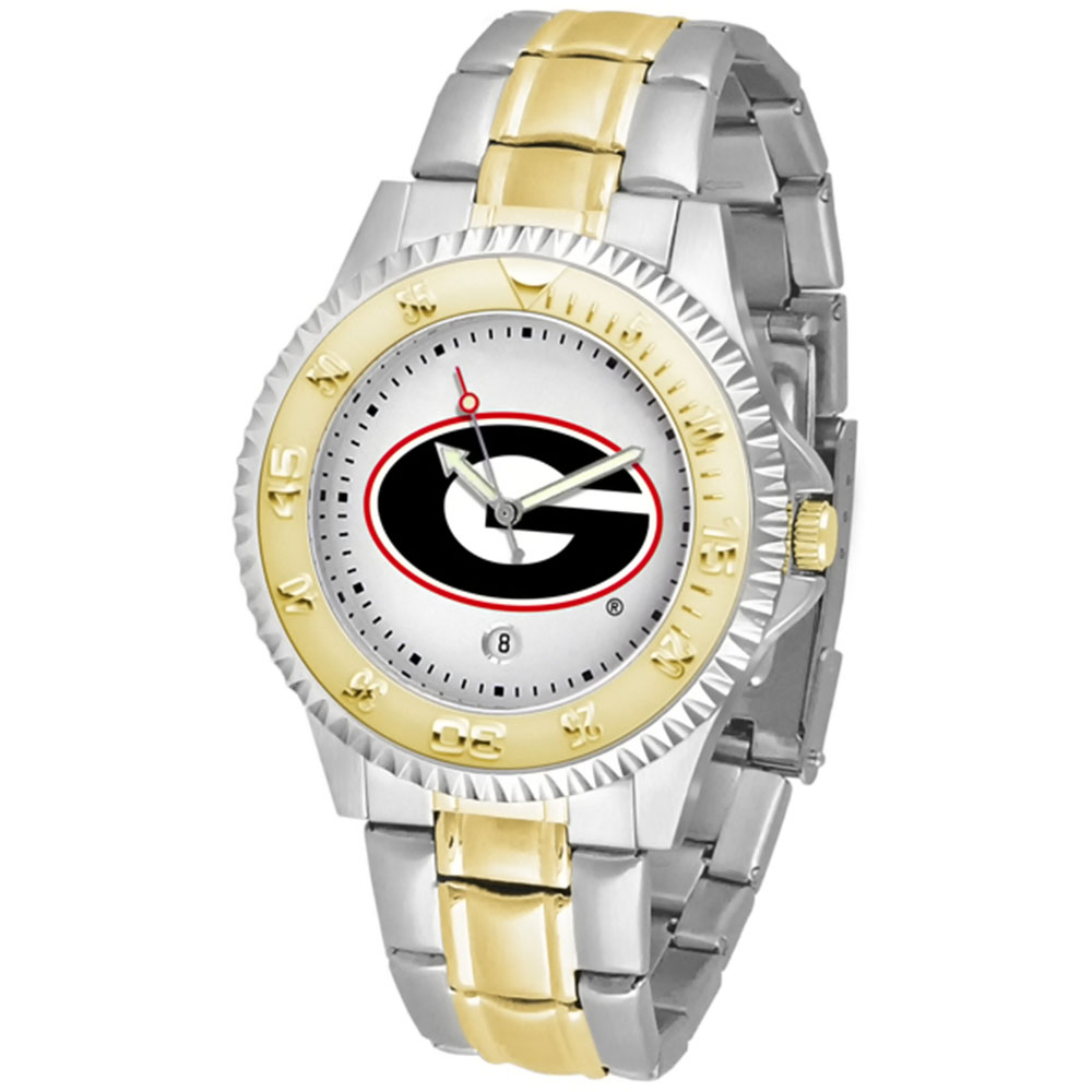 "Georgia Bulldogs NCAA ""Competitor"" men's watch (2-Tone Stainless Steel Band)"