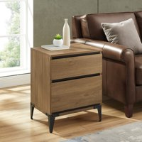 Eaton 2-Drawer Dark Walnut End Table by Manor Park, Multiple Colors