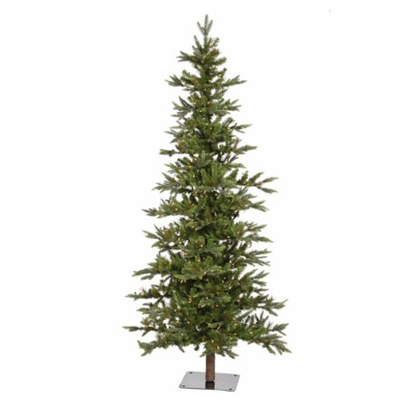 Vickerman Pre-Lit 7' Shawnee Fir Artificial Christmas Tree Alpine Artificial Christmas Tree, LED, Warm White Lights ()