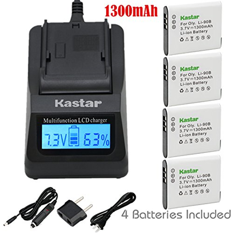 Kastar Ultra Fast Charger(3X faster) Kit and Battery (4-P...