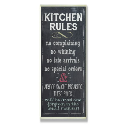 The Stupell Home Decor Collection Kitchen Rules Chalkboard Look Kitchen Wall Plaque](Chalkboard Decor)