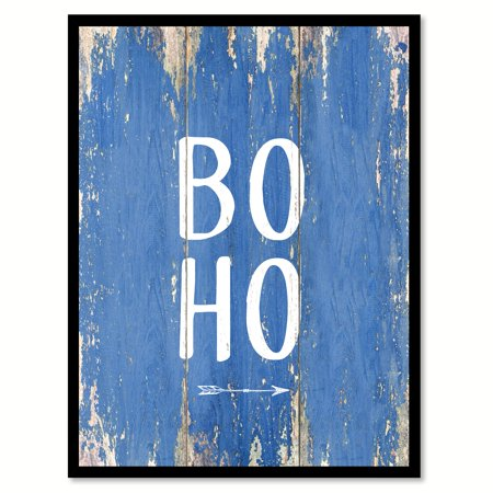 Boho Quote Saying Blue Canvas Print Picture Frame Home Decor Wall Art Gift Ideas 28