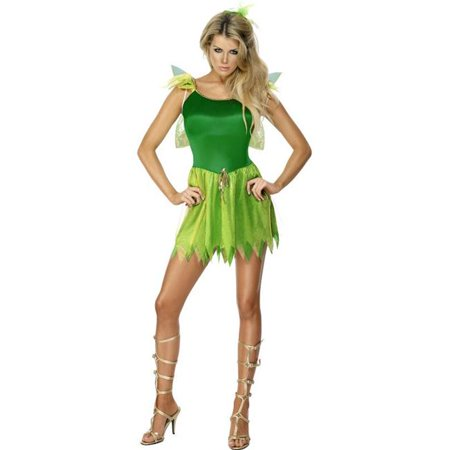 Woodland Fairy Wings (Smiffys 22154M Woodland Fairy Costume with Dress - HeadPiece & Wings, Green -)