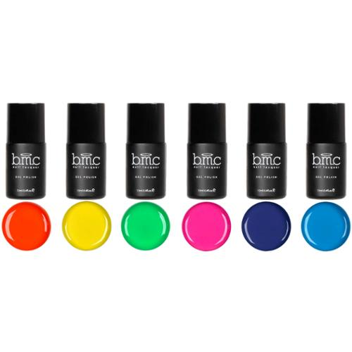 BMC 6pc Bright and Loud Cream Gel Lacquer Polishes - Neon Wasteland Master Set