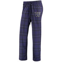 Washington Huskies Concepts Sport Women's Plus Size Knit Flannel Pant - Purple/Black