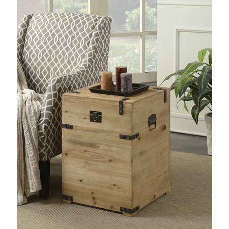 Convenience Concepts Laredo Trunk End Table (Trunk Table Wood Box)