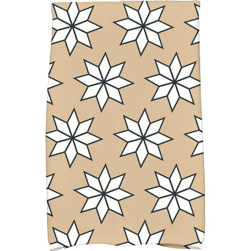 "Simply Daisy 16"" x 25"" Christmas Stars 1 Holiday Geometric Print Kitchen Towel by E By Design"