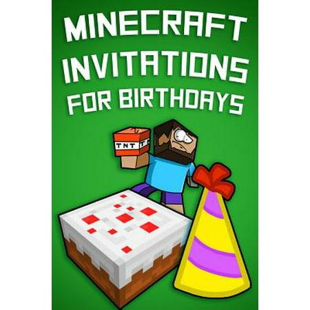 Minecraft Invitations For Birthdays