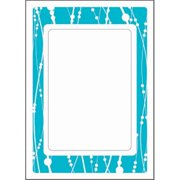 Herrschners® Tri-fold Cards Turquoise Set of 4 Counted Cross-Stitch