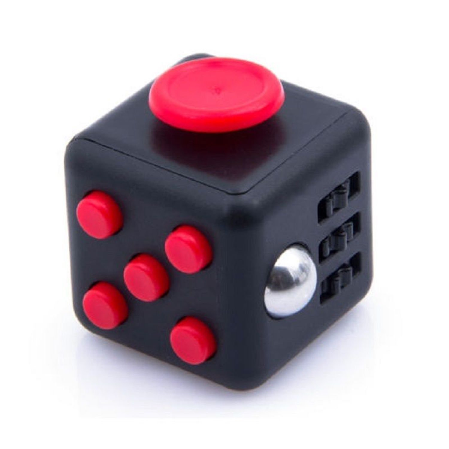 Xmas Gift Fidget Cube Relieves Stress Boredom and Anxiety Helps to Focus Christmas Gift for Children and Adults [ Arrives Before Christmas USA STOCK ] - Black Red