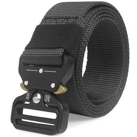 CoreLife Tactical Belt Mens Adjustable Heavy Duty Nylon Military Belt with Riggers Quick Release Metal Buckle ()