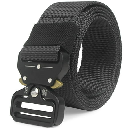 CoreLife Tactical Belt Mens Adjustable Heavy Duty Nylon Military Belt with Riggers Quick Release Metal - Tactical Tailor Duty Belt
