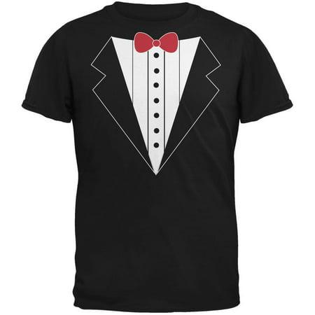 Costume Black Adult T-shirt - Tuxedo Costume Black Adult T-Shirt