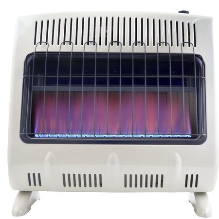 Mr. Heater 30,000 BTU Vent Free Natural Gas Blue Flame Heater + Mr. Heater Fan