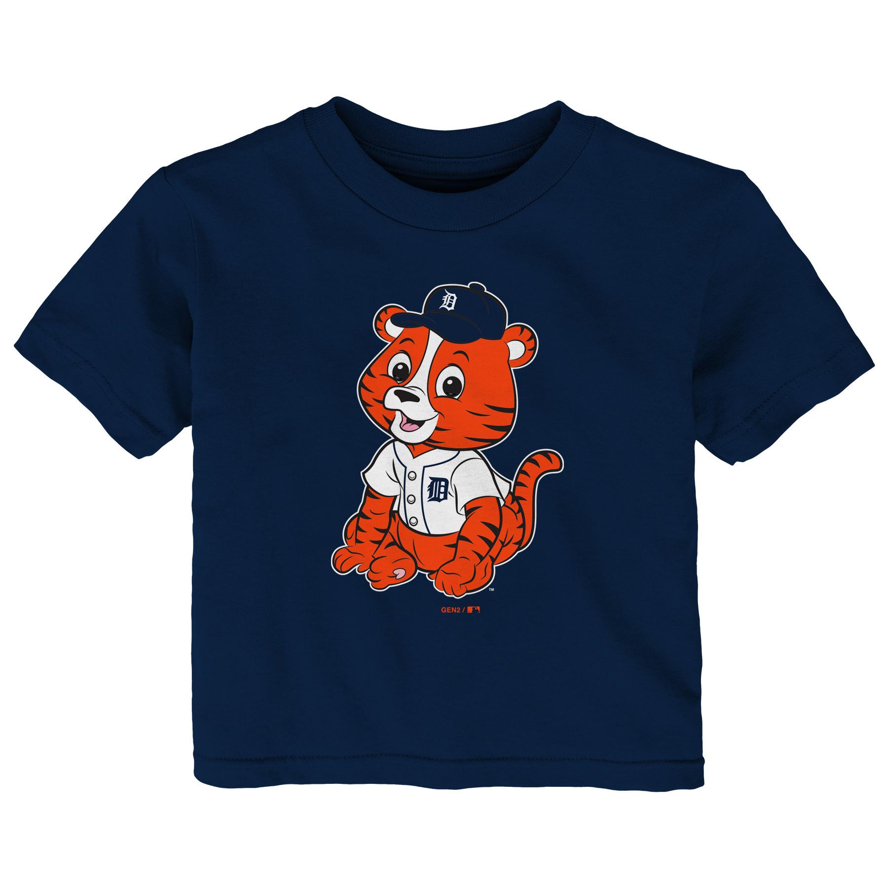 Detroit Tigers Infant Baby Mascot T-Shirt - Navy