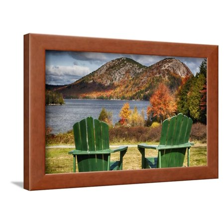 Best Seats in Acadia National Park, Maine Framed Print Wall Art By George