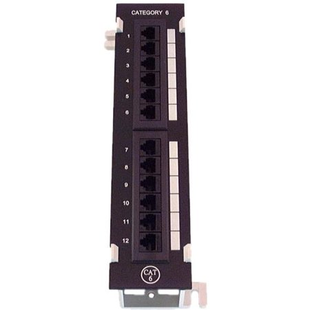 IEC PM13812 Compact 12 Port Cat 6 568B Patch Panel with Mounting Frame