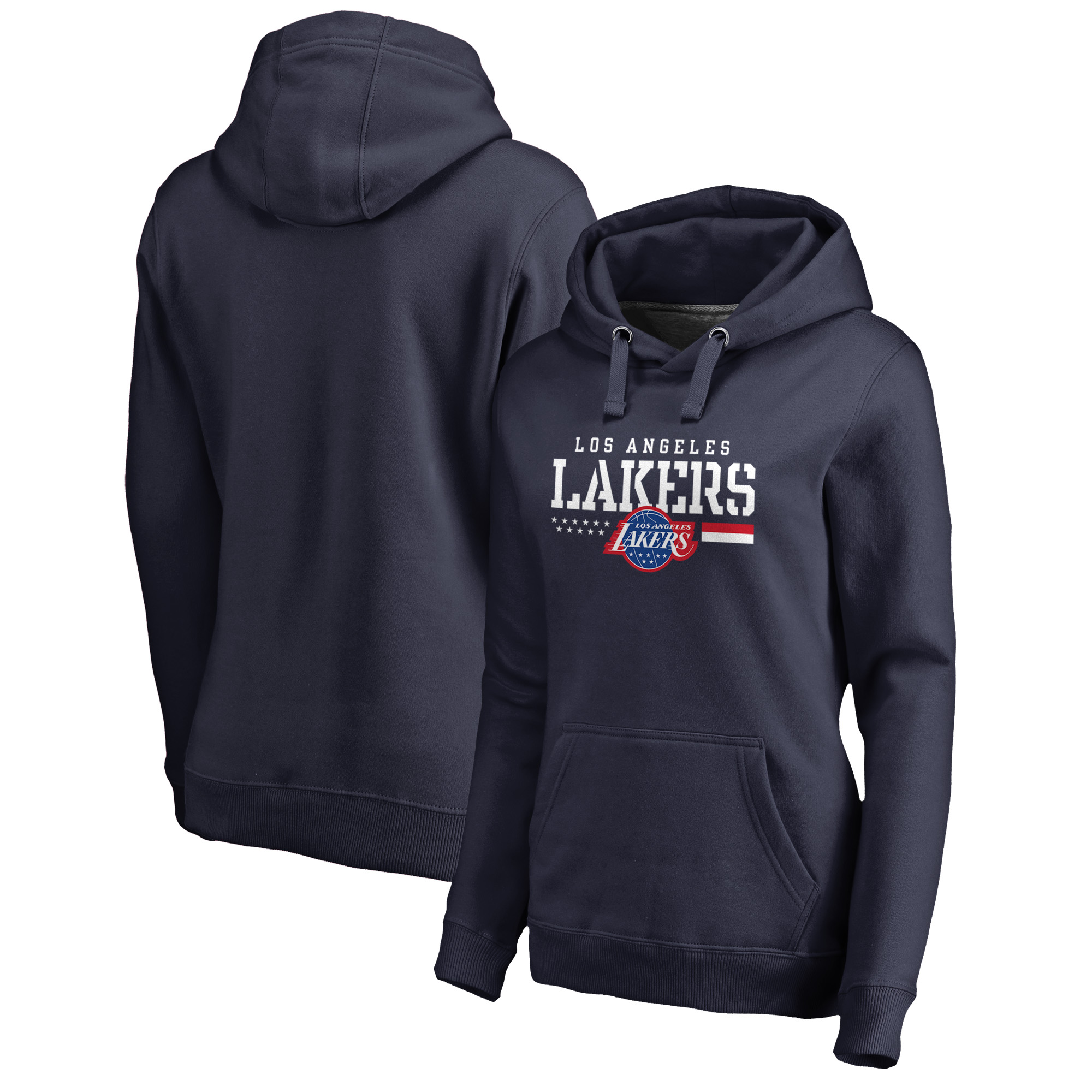 Los Angeles Lakers Fanatics Branded Women's Hoops For Troops Pullover Hoodie - Navy