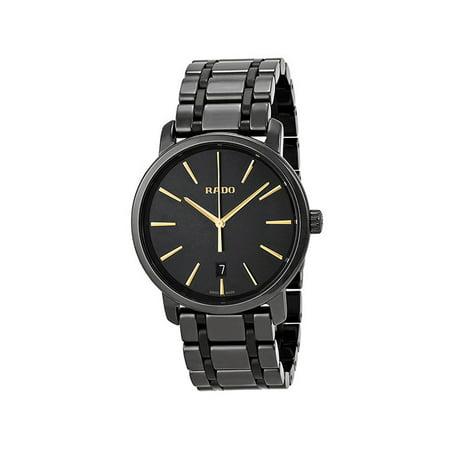 Rado DiaMaster XL Black Ceramic Mens Watch Quartz Date R14066152