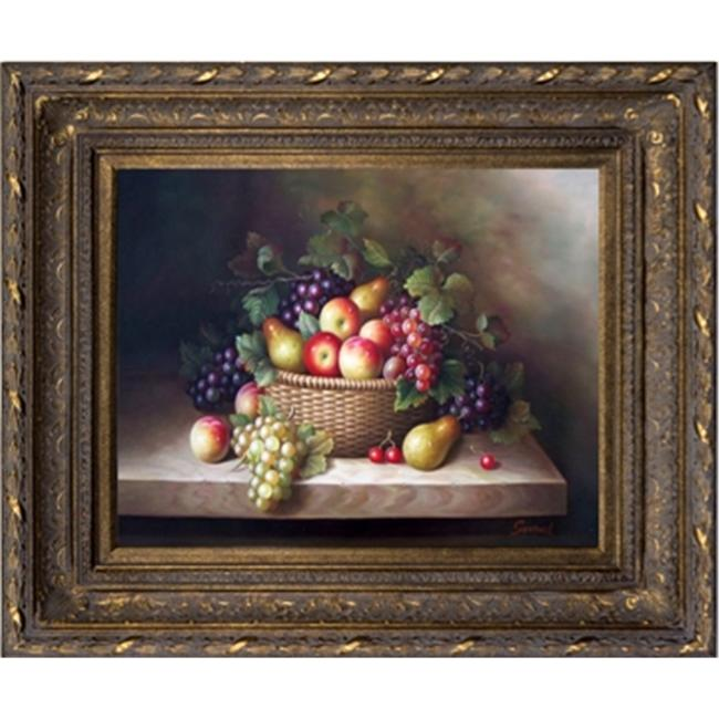 Artmasters Collection AC69558-668DG Basket Of Fruits II Framed Oil Painting