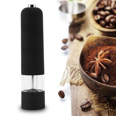 Electric Salt E Pepper Herb Mills Grinder With Led Light Black White