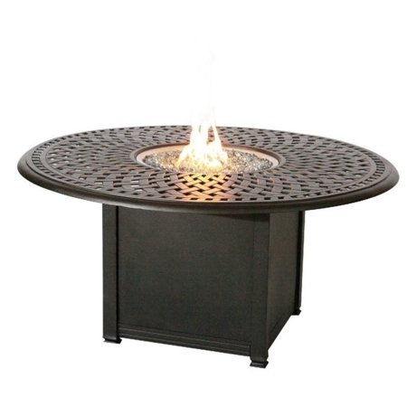 Darlee Round Patio Counter Height Propane Fire Pit Table - Pub height fire pit table