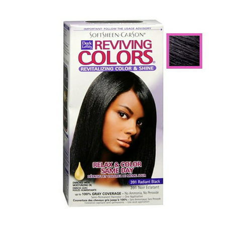 One Day Kit (Dark And Lovely Relax And Color Same Day 391 Haircolor, Radiant Black - 1 Kit)