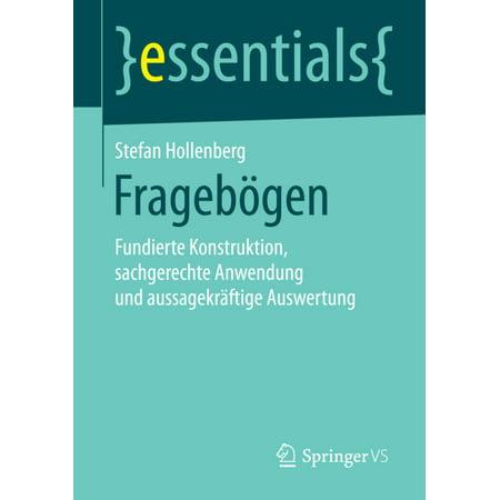 Fragebogen: Fundierte Konstruktion, Sachgerechte Anwendung Und Aussagekraftige Auswertung (1. Aufl. 2016) - image 1 of 1