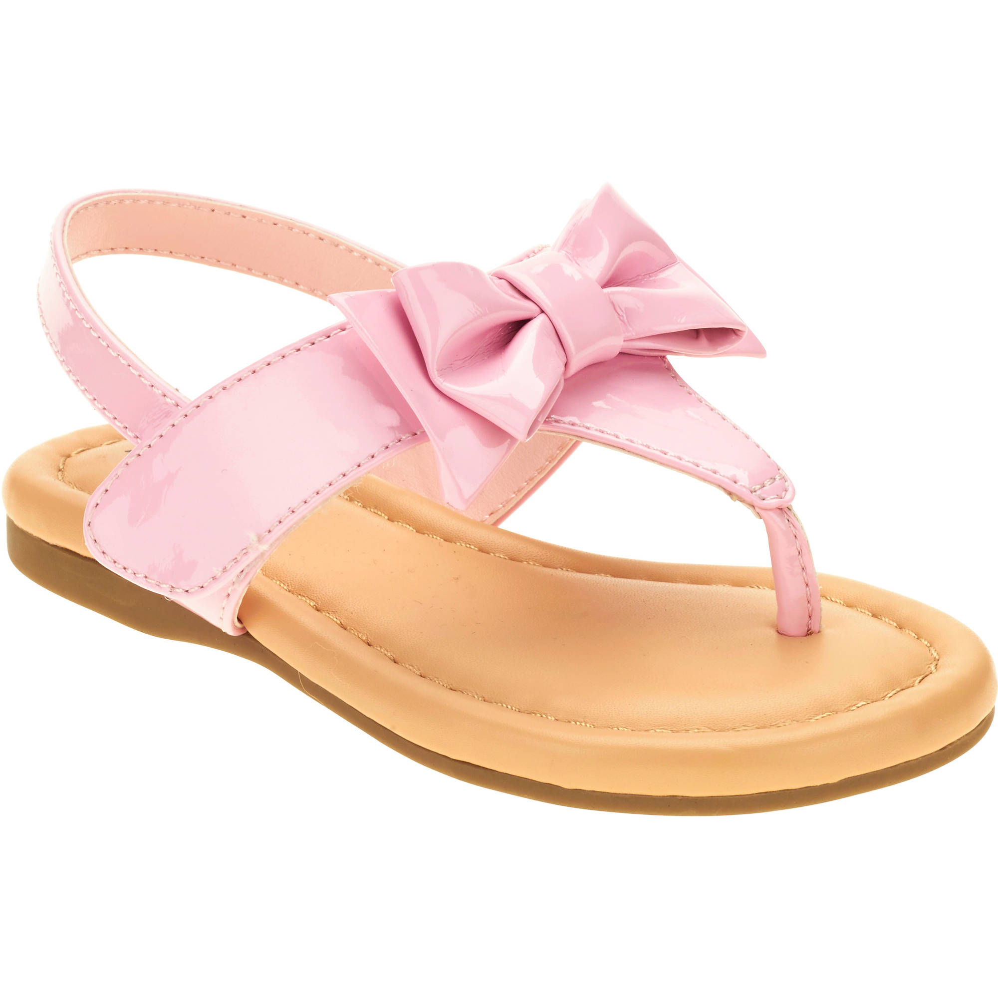 Healthtex Girls' Toddler Patent Bow Sandal