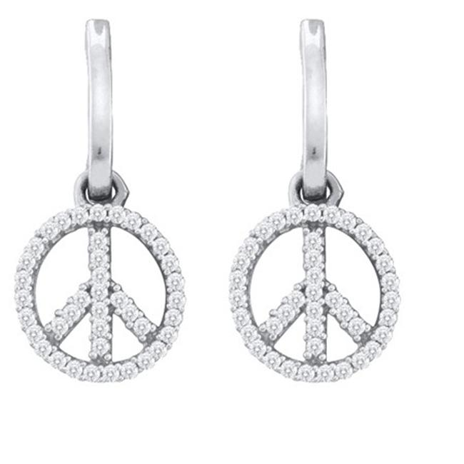 Gold and Diamonds EF8128-W 0.25CT-DIA FASHION EARRINGS- Size 7