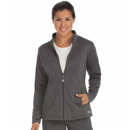Activate by Med Couture Women's Med Tech Zip Front Solid Scrub