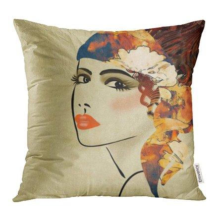 ARHOME Watercolor Woman Colorful Sketching Beautiful Girl Face on Sepia in  Style Modern Pillowcase Cushion Cases 20x20 inch - Walmart.com 7fe2bef0e