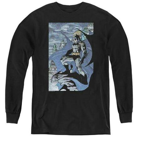 Batman & Seurbat-Youth Long Sleeve Tee, Black - Small - image 1 de 1