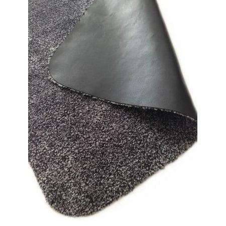 Rismat Magic Mat, Indoor Mat Cotton & Microfiber, Non Slip Rubber Backing, Low Profile Rug, Traps Mud & Dirt, Charcoal 30-inches x 39-inches - Walmart.com