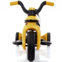 GHP Yellow 3-Wheeled 6V Battery Powered 2MPH Kids Toddlers Ride On Motorcycle Trike