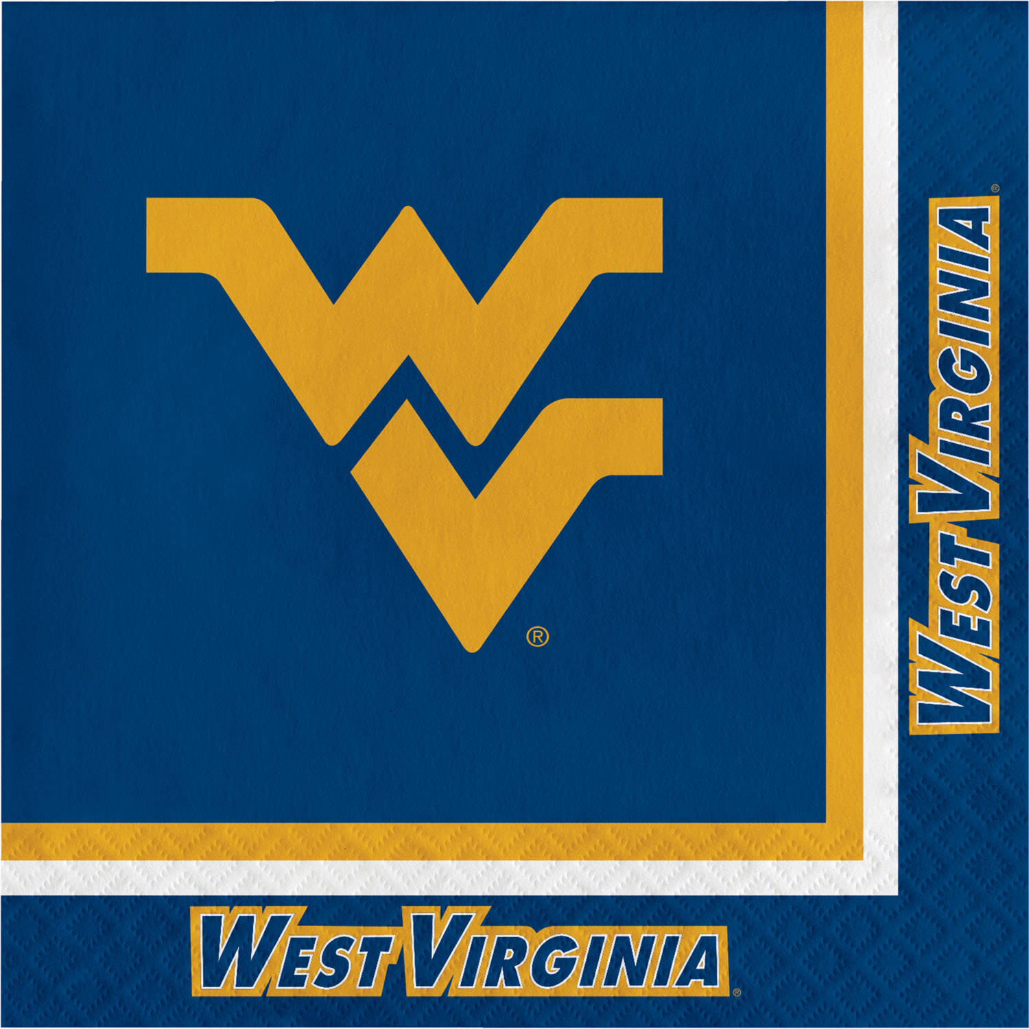 Creative Converting 207549 West Virginia Mountaineers Lunch Napkins