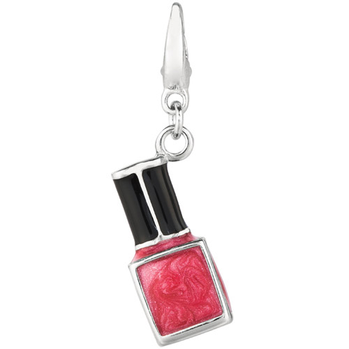 Women's Sterling Silver Nail Polish Clip-On Charm