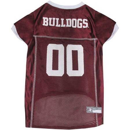 Pets First College Mississippi State Bulldogs Collegiate Dog Jersey, Available in Various (Mississippi State Bulldogs Player)