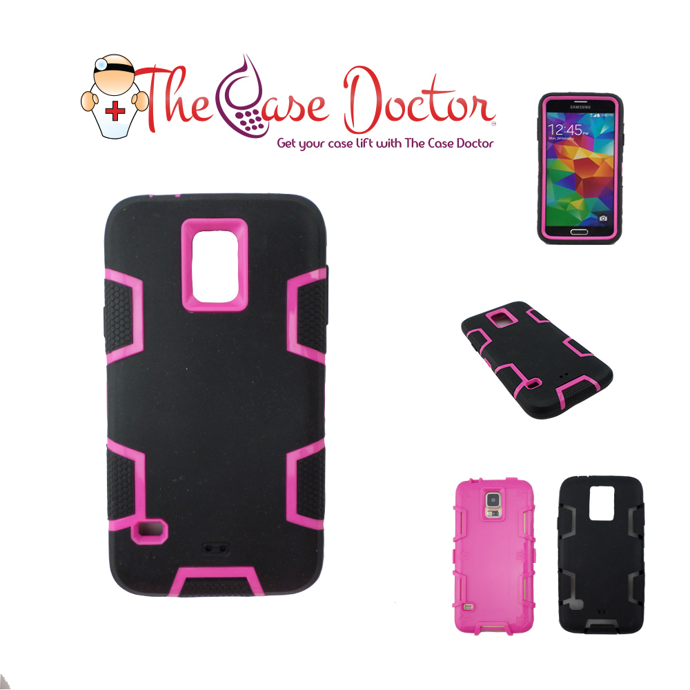 Galaxy S5 9600 Hybrid Turtle Armor with Screen Protector & Stylus Pen