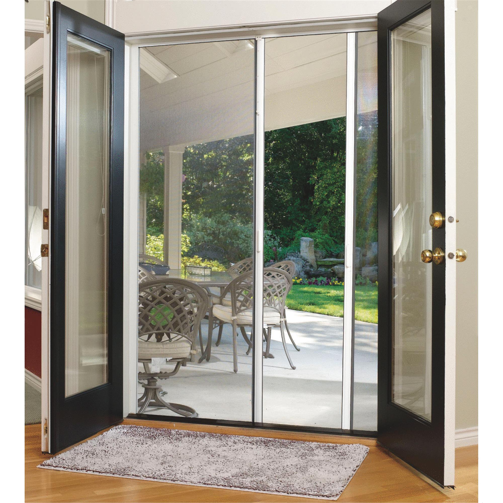 Attirant Larson Escape Retractable Screen Door