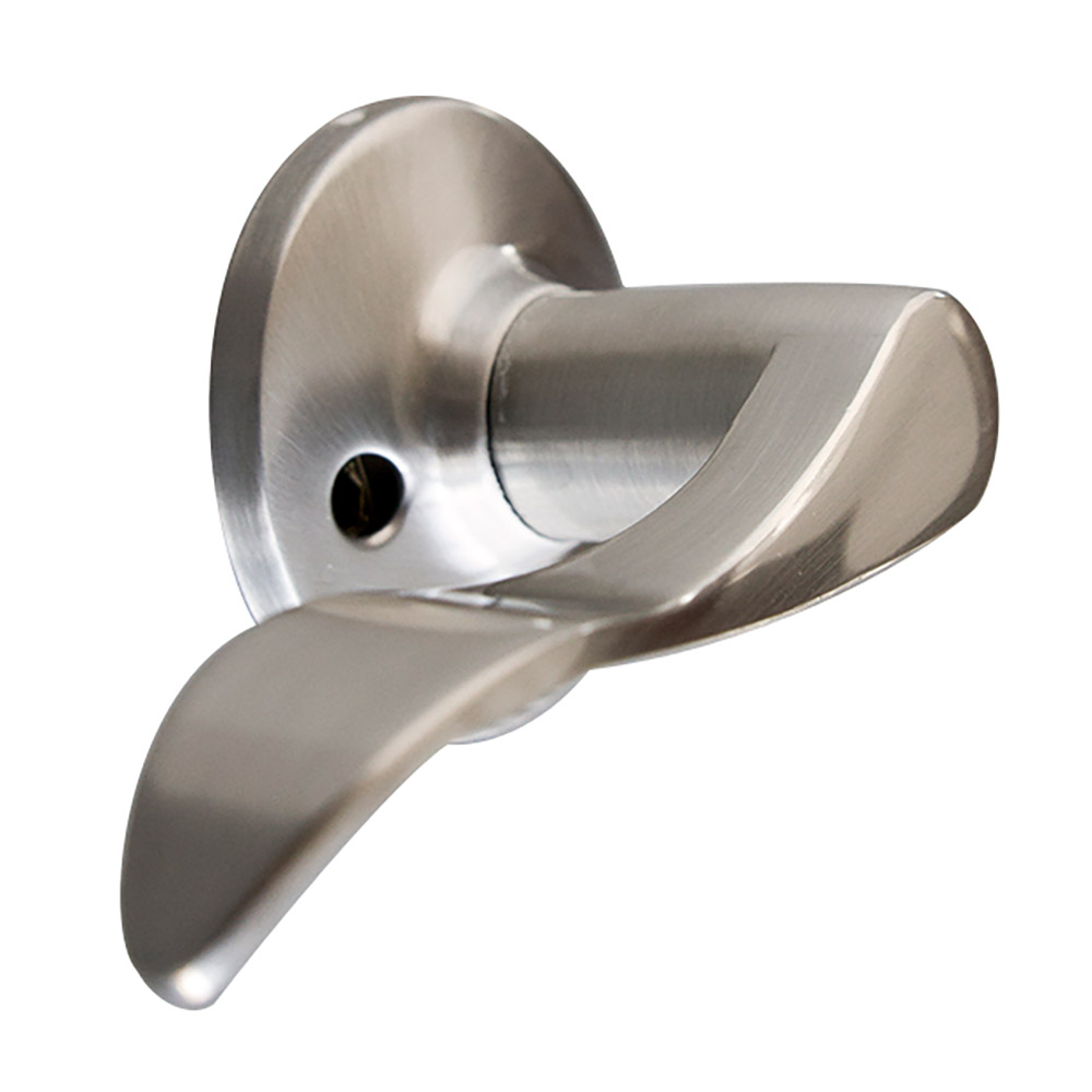 Design House 726984 Stratford Left Hand Dummy Door Knob, Satin Nickel