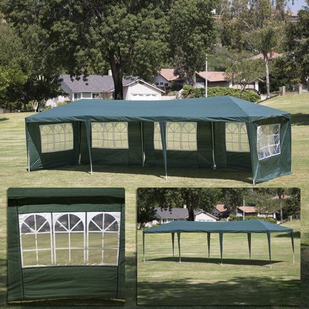 10 Canopy Side Wall - Belleze© 10'x30' Canopy Party Wedding Outdoor HD Tent Gazebo w/ (5) Removable Wall, Green