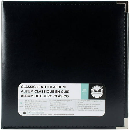 We R Classic Leather 3-Ring Album, 8.5